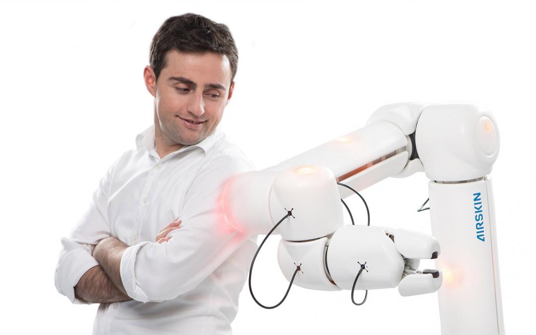 Pressure-sensitive office robots